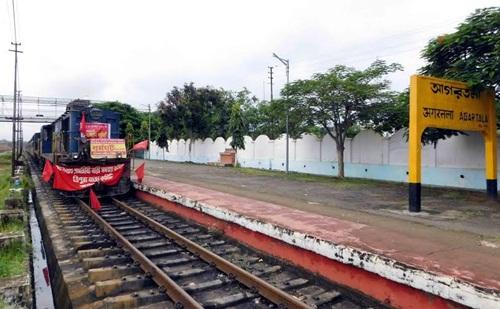 Agartala Station on the day of September 2, 2015 Strike