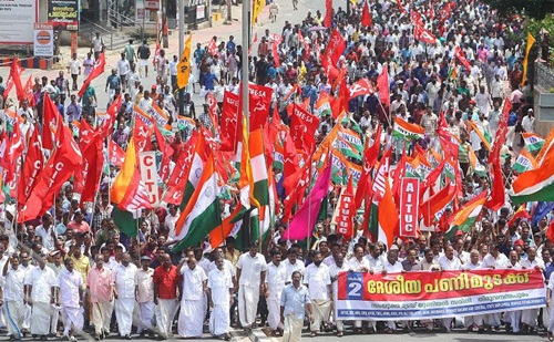 ... Kerala Brought to a Standstill | Communist Party of India (Marxist