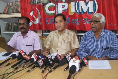 Press Conference by Jitendra Chaudhury
