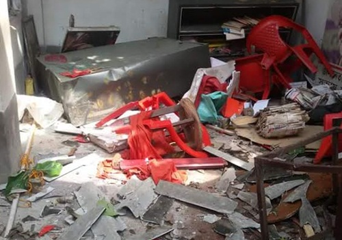 Konnagar CPI(M) Office Vandalised by Trinamul Hoodlums